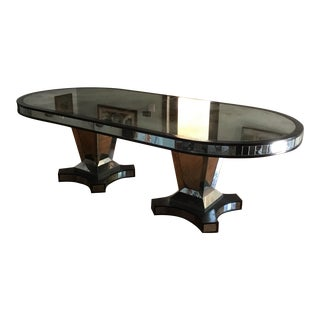 Antiqued Mirror Dining Table