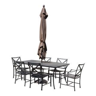 Restoration hardware outdoor dining set for Restoration hardware outdoor umbrellas