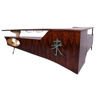 Modernist Rosewood Desk with Mendoza Hardware