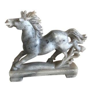 Vintage Carved Alabaster Horse