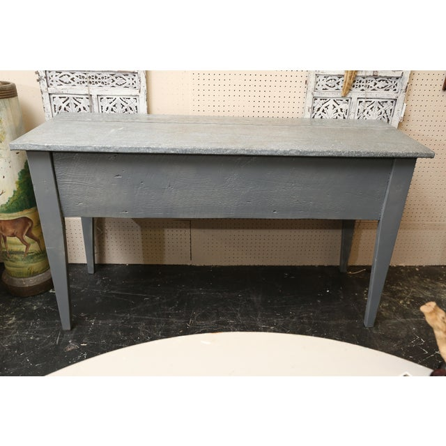 Industrial Zinc Top Console Table - Image 2 of 5