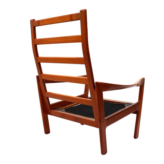 Illum Wikkelso Teak & Leather Lounge Chairs - Pair - Image 3 of 7