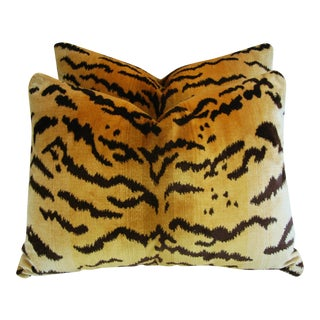 Scalamandre Le Tigre/Mohair Pillows - Pair