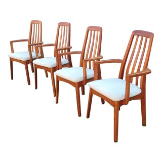 Benny Linden Danish Modern Dining Armchairs - Set of 4