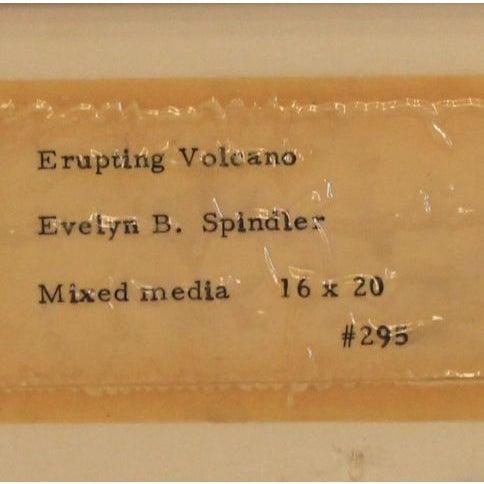 "Mixed Media Artwork - ""Erupting Volcano"" - Image 6 of 6"
