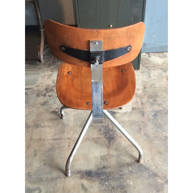 Vintage French Industrial Factory Stools - 4 - Image 4 of 10