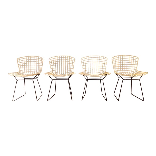 Harry Bertoia For Knoll Associates Side Chairs Set Of 4
