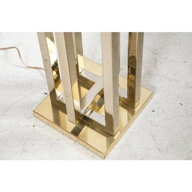 Milo Baughman Brass Deco Floor Lamp - Image 7 of 9