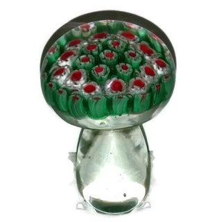 Murano Millefiori Glass Mushroom Paper Weight
