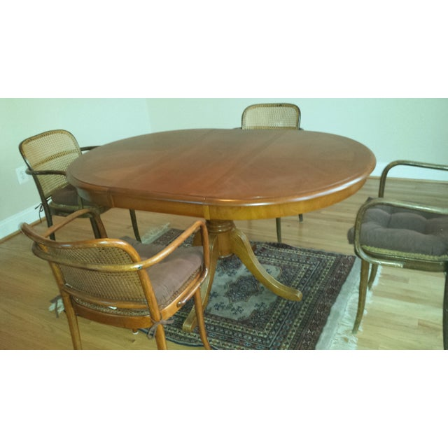Vintage Stendig Thonet Bentwood Cane Chairs - Set of 4 - Image 11 of 11