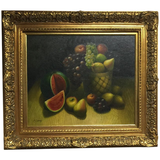Oil on Canvas Still Life Painting - Image 1 of 4