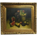 Image of Oil on Canvas Still Life Painting