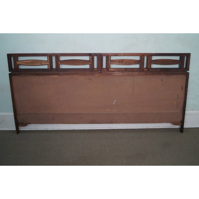 mid century modern walnut king size headboard chairish. Black Bedroom Furniture Sets. Home Design Ideas