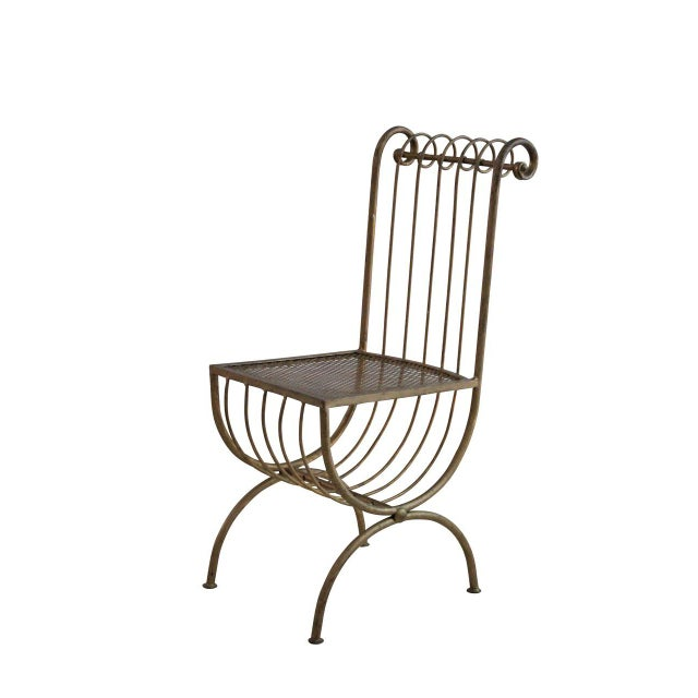 Hollywood regency vanity chair chairish - Tall vanity chair ...