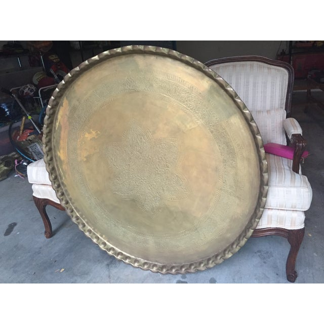Extra Large Coffee Tables: Extra Large MCM Brass Tray Coffee Table