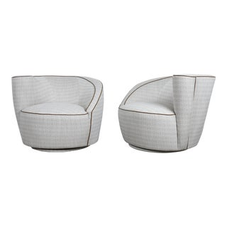 Midcentury Vladimir Kagan Swivel Chairs - A Pair