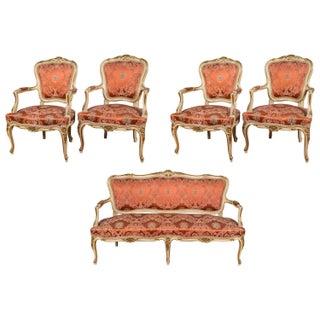 Louis XV Paint Decorated Sofa Set