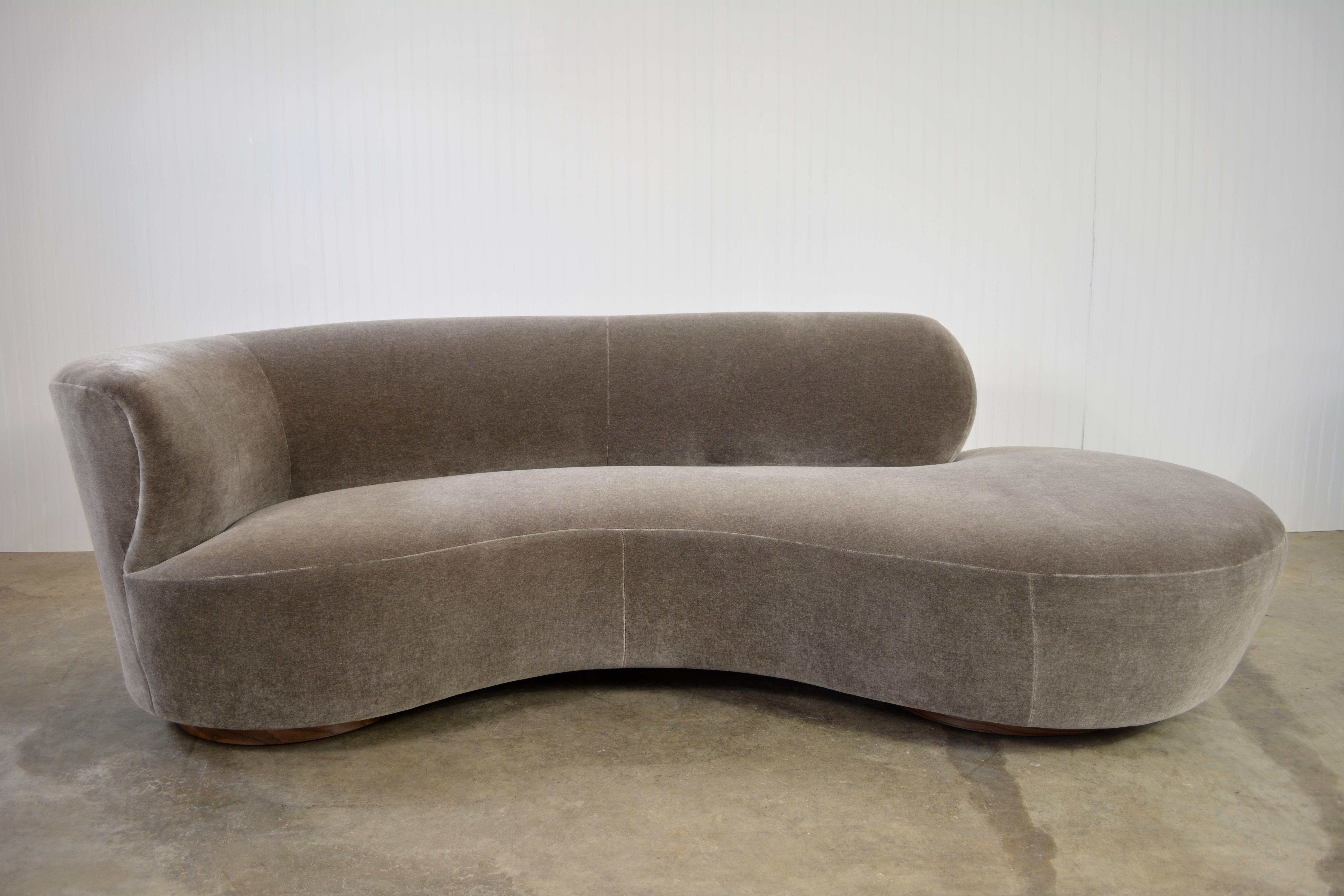 Vladimir Kagan Cloud Sofa In Mohair   Image 3 Of 7