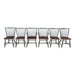 L. Hitchcock Windsor Stickback 440 Farmhouse Chairs - Set of 6
