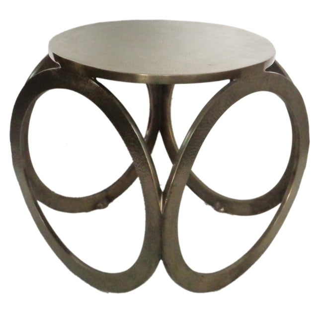 Aluminium Hammered Stool - Image 1 of 4
