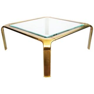 Mid-Century Modern Brass Mastercraft Coffee Table