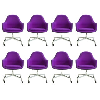 Set of Eames Loose Cushion Armchairs