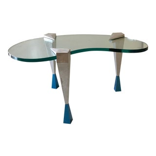 Memphis Style Modernist Kidney Shaped Coffee Table