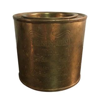 Vintage Brass English Breakfast Tea Cannister