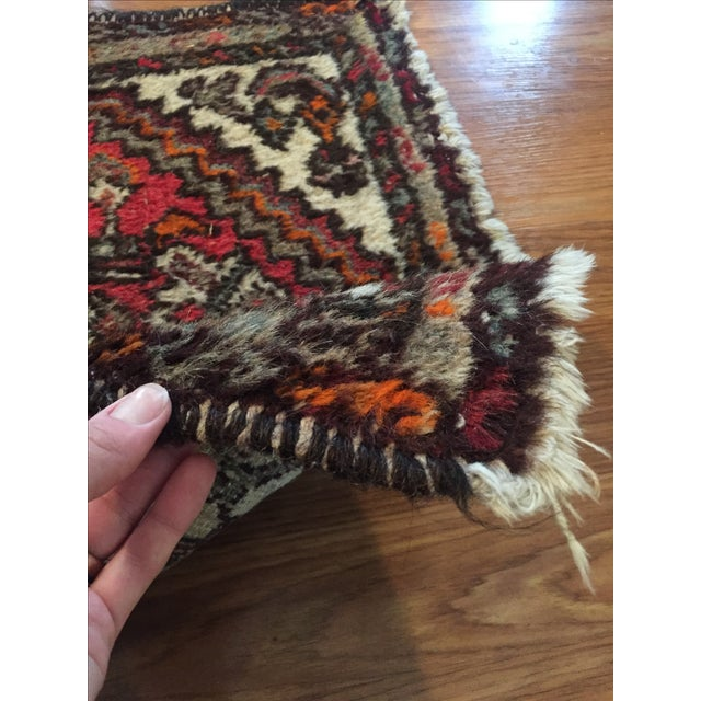 """Vintage Wool Rug - 35.5"""" X 22.5"""" - Image 4 of 6"""