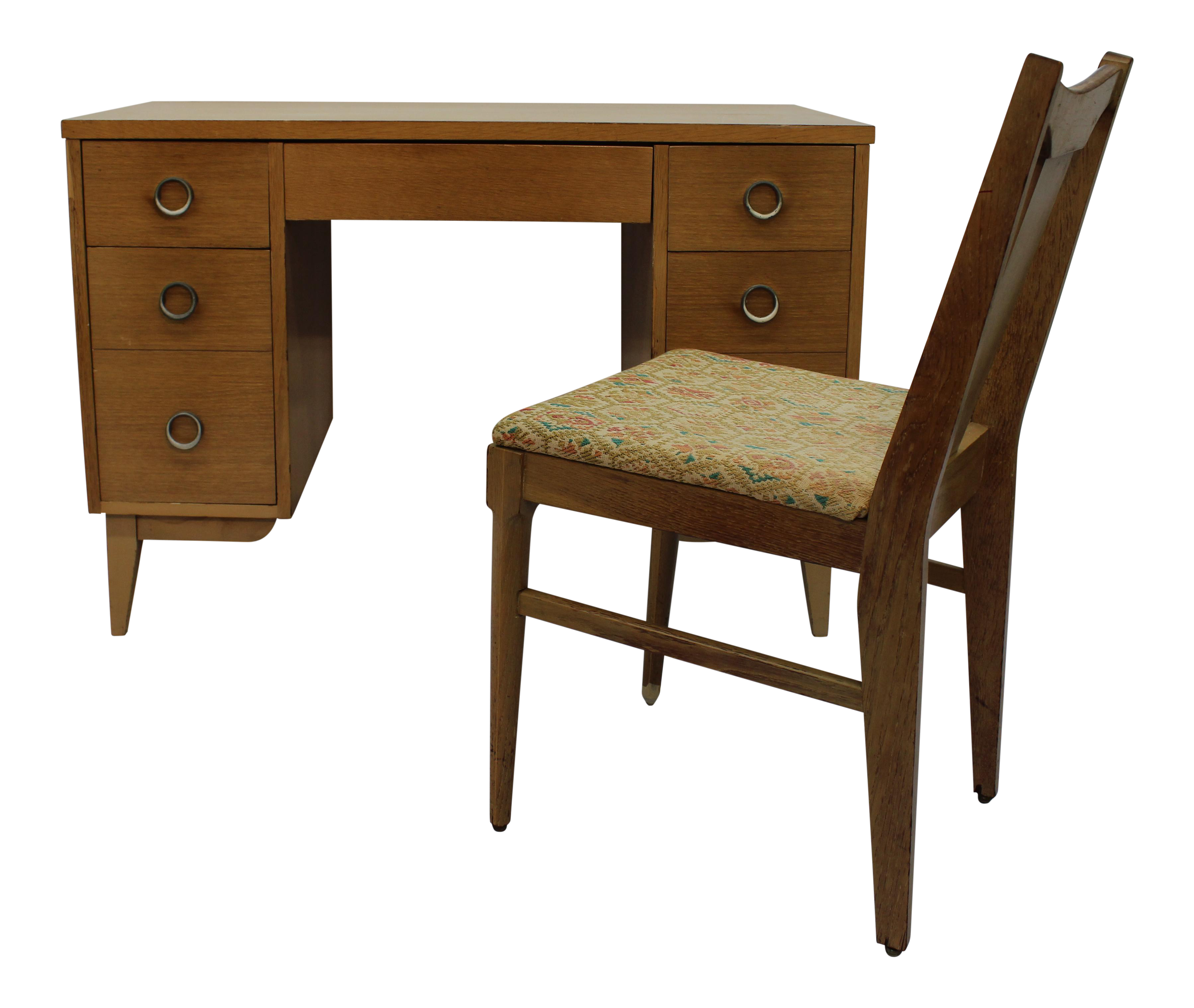 Elegant Lane Mid Century Blonde Desk U0026 Chair