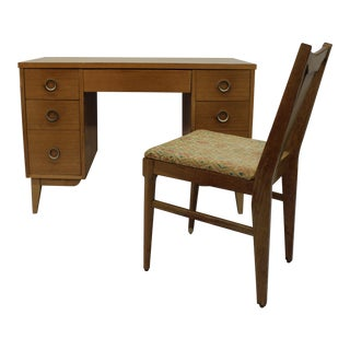 Lane Mid-Century Blonde Desk & Chair