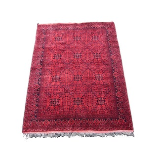 "Red Bokhara Rug - 7'8"" X 5'7"""