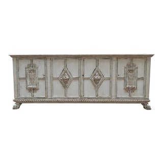 Swedish Neo-Gothic Storage Cabinet in Milk Paint Finish