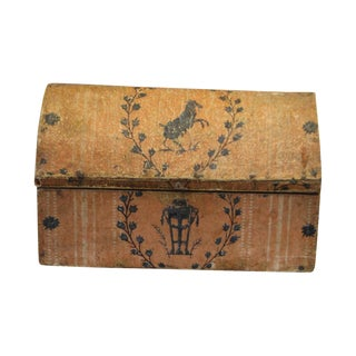 Painted Parchment Covered Box
