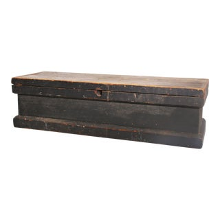 Vintage Industrial Wood Carpenter's Chest