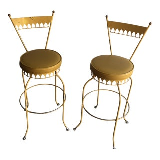 Tony Paul Mid-Century Modern Bar Stools - A Pair