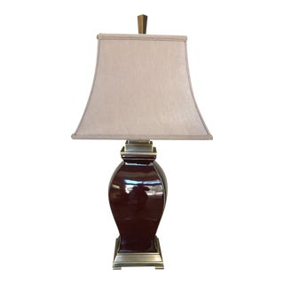 Lamp With Beige Shade