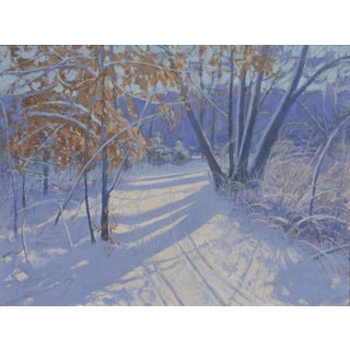 Stephen Remick Snowy Path Painting