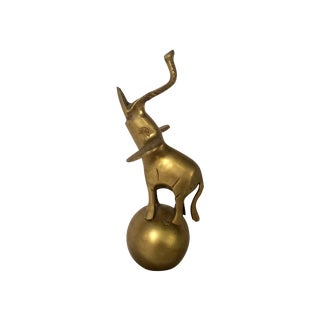 Brass Elephant on Ball