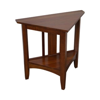 Ethan Allen New Impressions Solid Cherry Triangle Corner Table