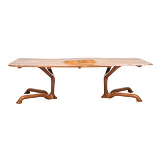 Large Ejner Pagh Sculptural Walnut Dining Table, Usa, 1974
