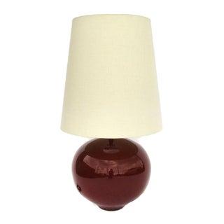 Mid-Century Maroon Ceramic Lamp