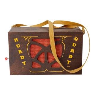 Vintage Hurdy Gurdy Music Box