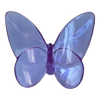 """Baccarat """"Lucky"""" Butterfly Paper Weight"""