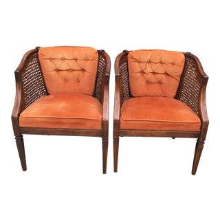 Mid-Century Orange Chairs - A Pair