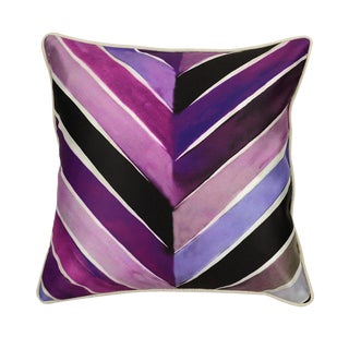 Plum Print Polyester Pillow