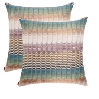 "Missoni Santa Fe Pillows - 22"" X 22"" - A Pair"