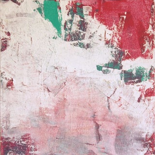 Modern Abstract White, Pink & Red Painting