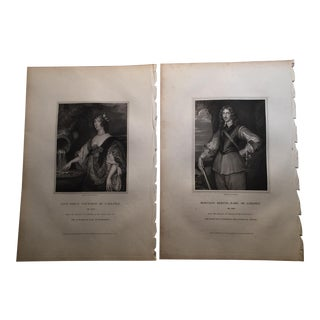 1826 Antique English Aristocratic Prints - A Pair
