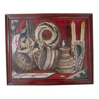 Native American Basketry Painting
